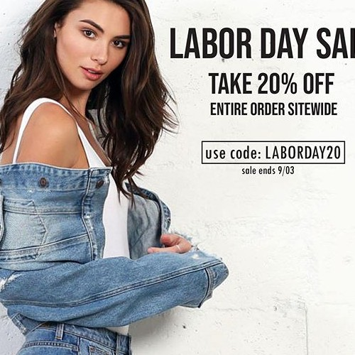 Make sure to catch our Labor Day sale! And enjoy 20% off everything including sale! #hiddenjeans #spottedinhidden-