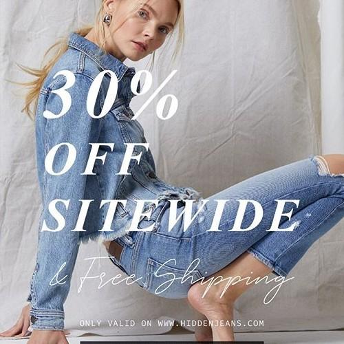 Did you hear? 30% off sale on www.hiddenjeans.com! #hiddenjeans #spottedinhidden-